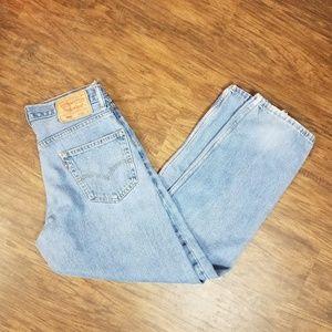 Levi's 30 30 Light Wash 550 Jeans  Short
